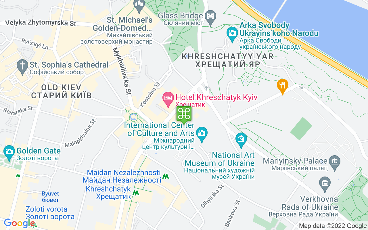 Map showing location of Star Burger