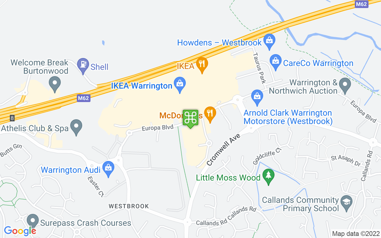 Map showing location of Gemini Retail Park