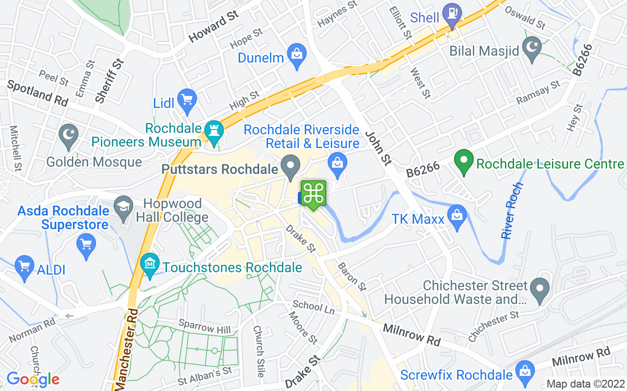 Map showing location of Number One Riverside