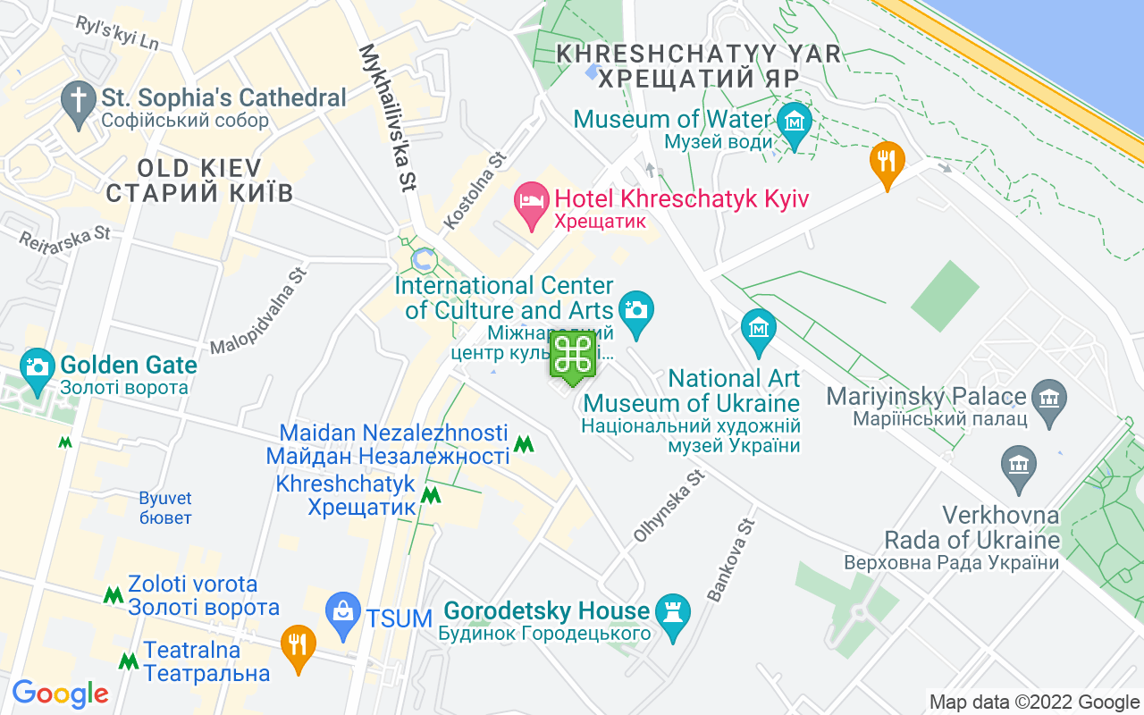 Map showing location of Independence Square