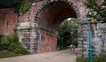 East Lancs Viaduct between Avenham and Miller parks in Preston