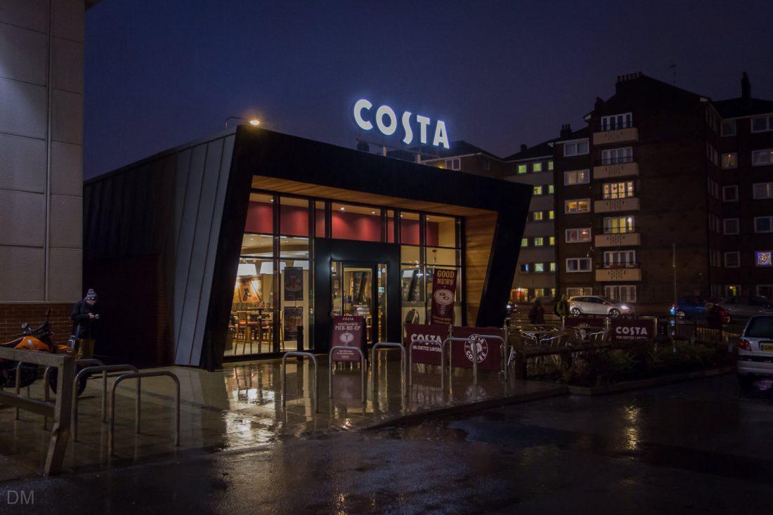 Costa cafe at Bolton Shopping Park