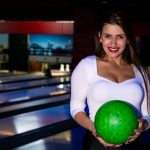 Model at Dream Town Bowling in Kiev, Ukraine
