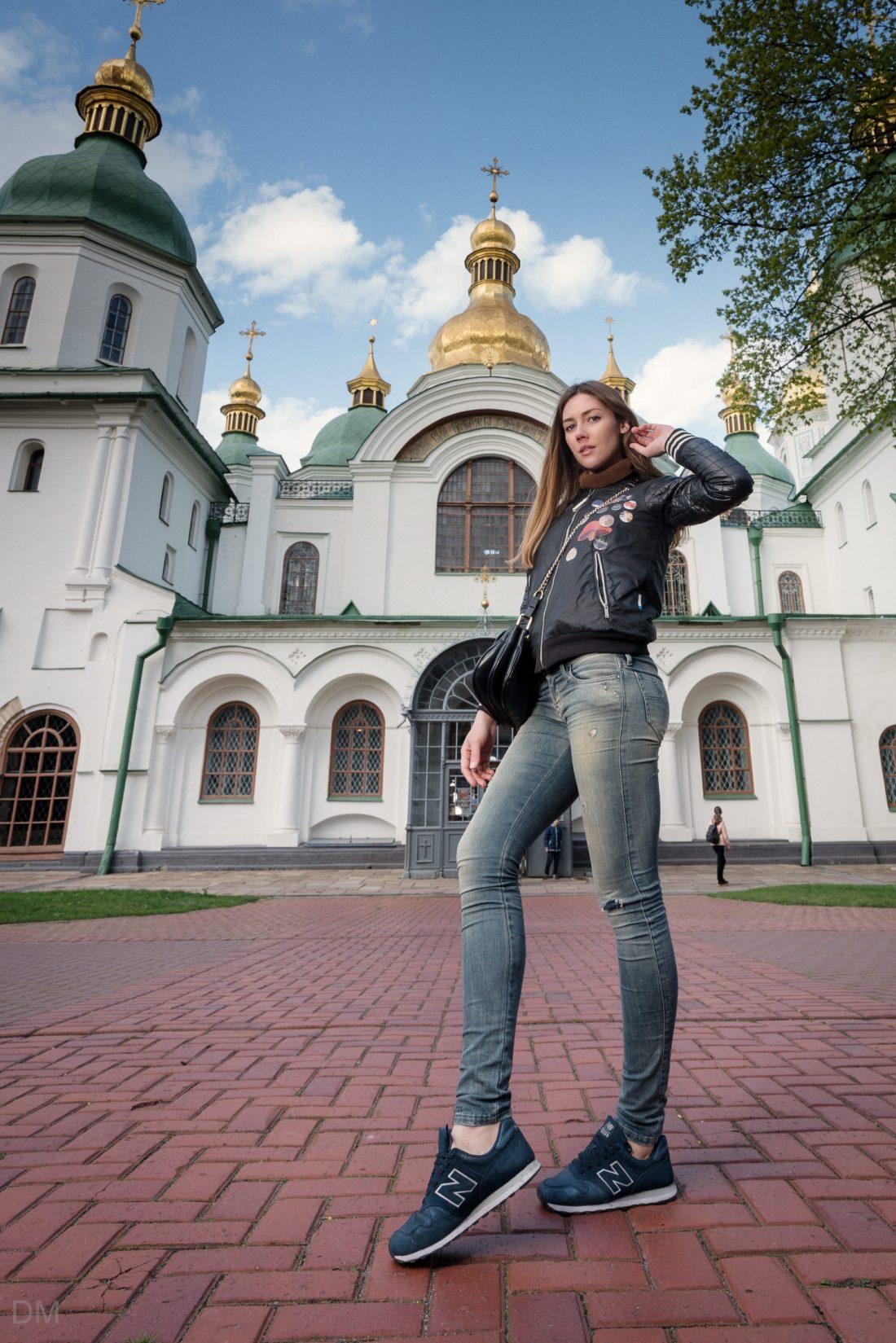 Girl at St Sophia's Cathedral in Kiev, Ukraine