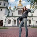 Girl at St Sophia's Cathedral in Kiev, Ukraine