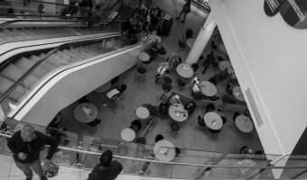 Photograph of the food court and market at The Mall in Blackburn, Lancashire