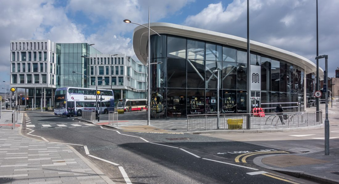 Rochdale Interchange bus station and Number One Riverside