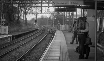Platform at Trafford Bar Metrolink Station
