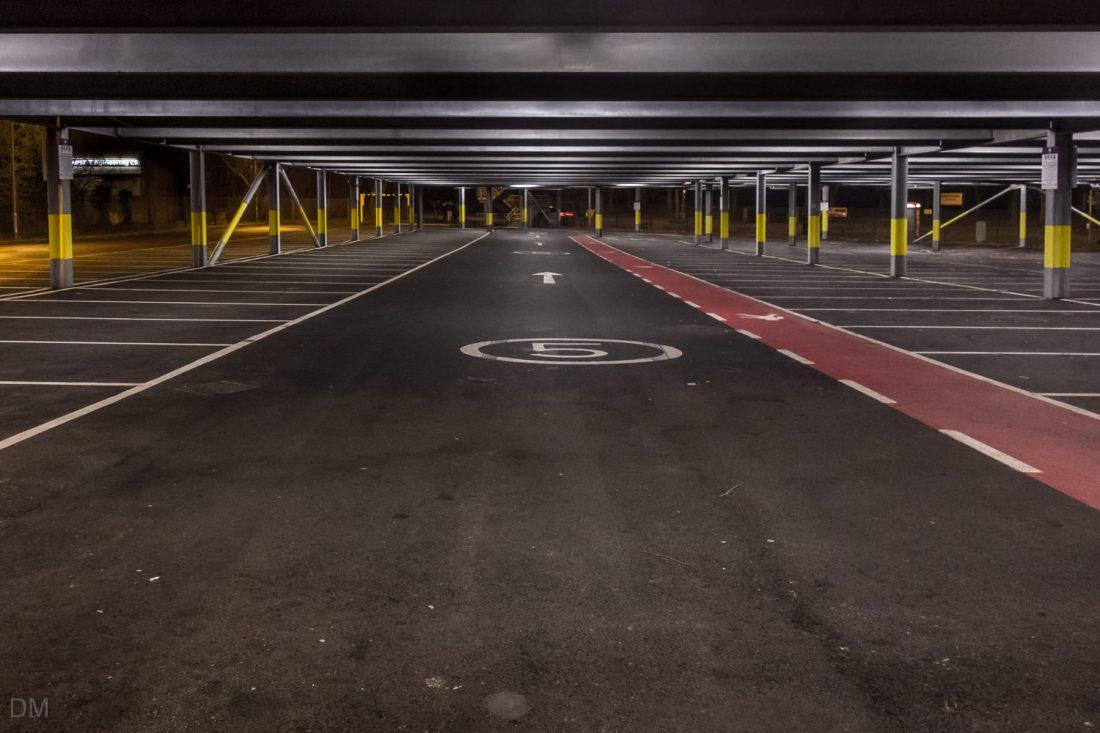 Car park at Radcliffe Metrolink Station