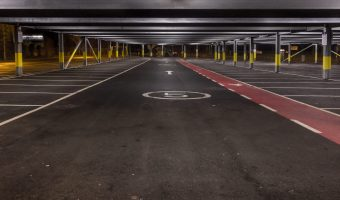 Car park at Radcliffe Metrolink Station