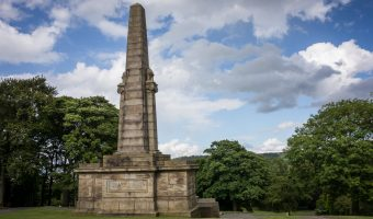 Accrington War Memorial in Oak Hill Park, Accrington, Lancashire