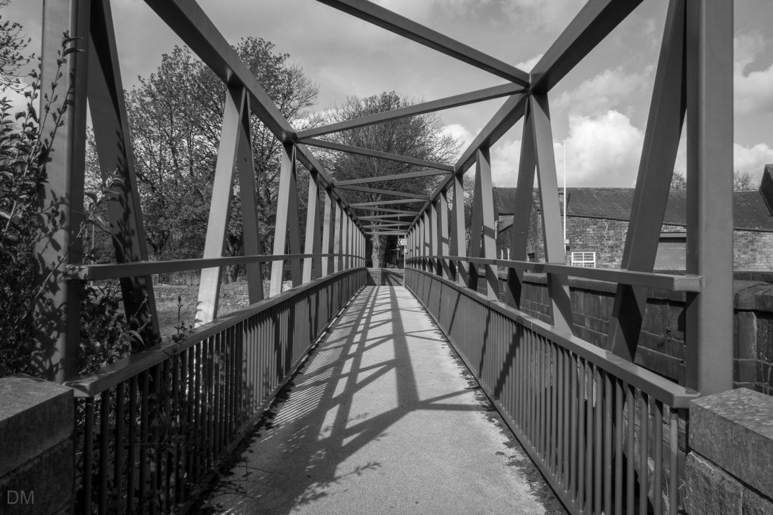 Footbridge at Stubbins near Ramsbottom