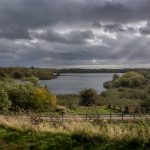 Clouds over Pennington Flash Country Park in Leigh