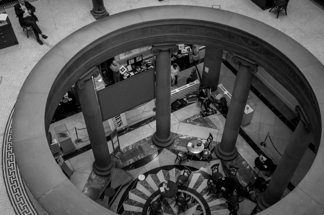 Atrium at the Harris Museum and Art Gallery in Preston, Lancashire