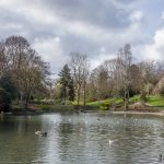 Lake at Queens Park in Bolton, Greater Manchester