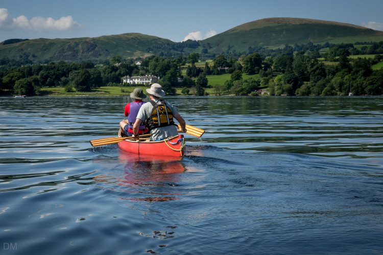 Canoe on Ullswater near Waterside House Campsite