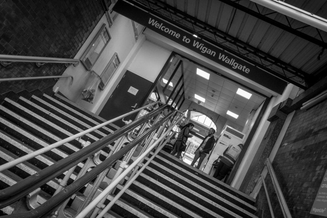 Entrance to Wigan Wallgate Train Station