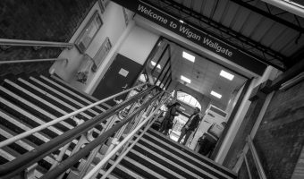 Entrance to Wigan Wallgate Train Station