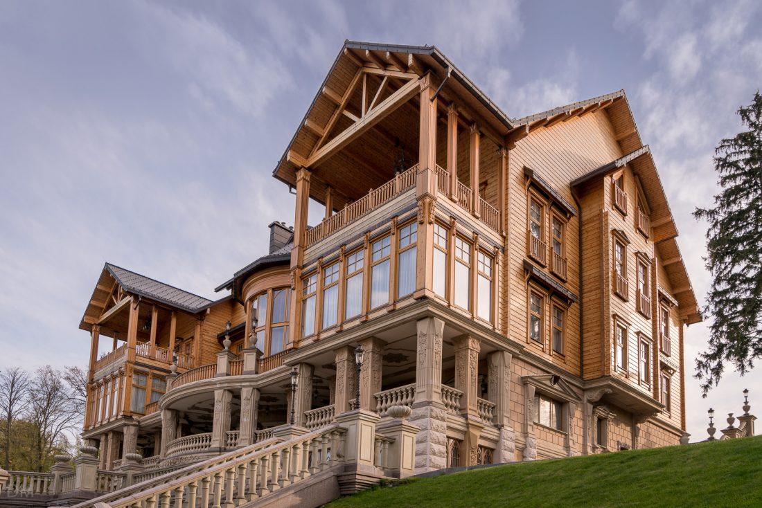 The 'Honka' house at Mezhyhirya, the former home of Viktor Yanukovych, ex-President of Ukraine.