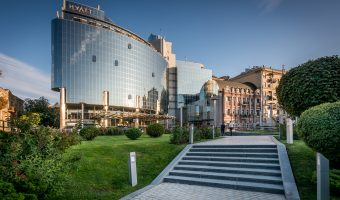 The Hyatt Regency hotel in Kiev, Ukraine