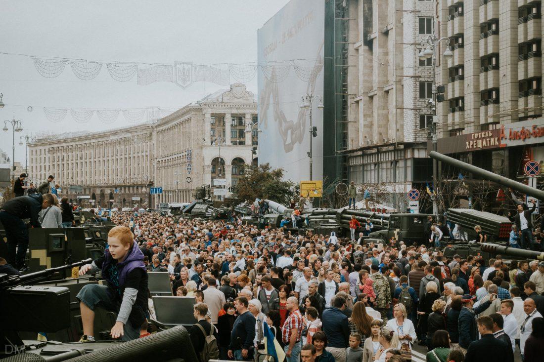 Independence Day of Ukraine, Kiev city centre
